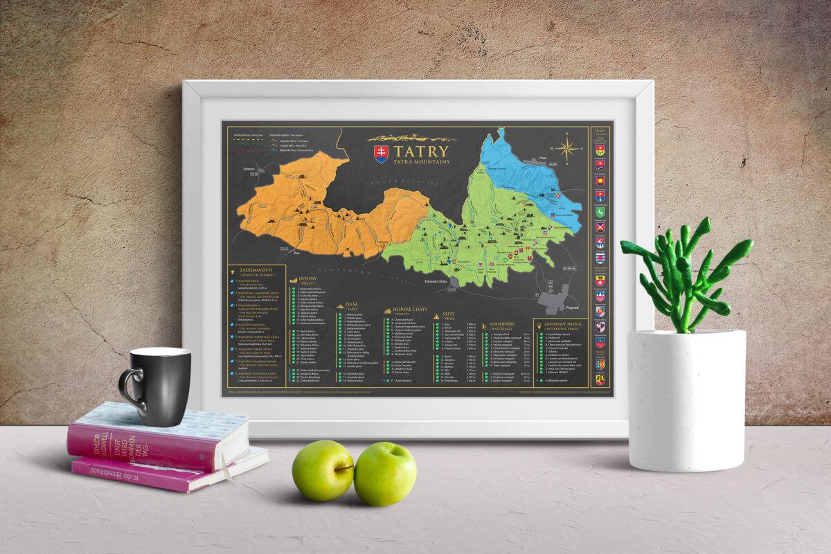 Carte des Tatras à gratter