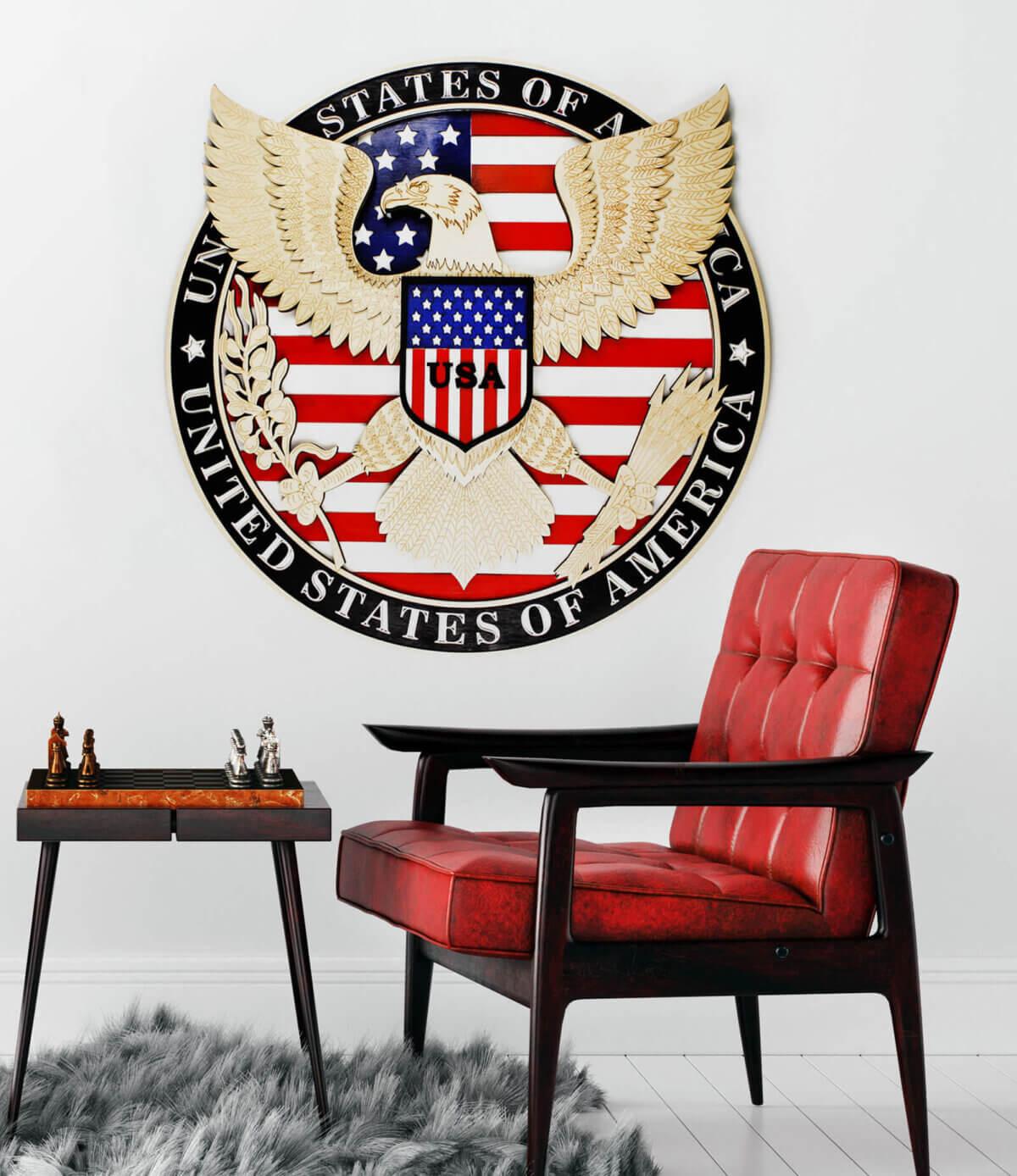 Symbole d'aigle USA